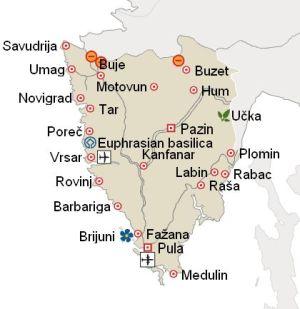 Klek chorvatsko mapa